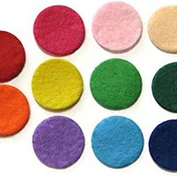 (25 Pack) Aromatherapy Diffuser Locket Necklace Refill Pads - Assorted Colors