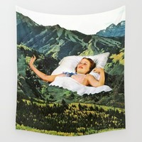 Rising Mountain Wall Tapestry by Eugenia Loli | Society6