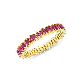 Brilliant Baguette Band in Ruby 14k Gold