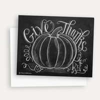 Thanksgiving Give Thanks with Pumpkin - A2 Note Card