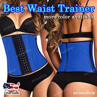 #1 Waist Trainer Cincher Underbust  Corset Girdle Workout Belt Shaper Top