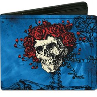 Grateful Dead Men's Skull & Roses Bi-Fold Wallet