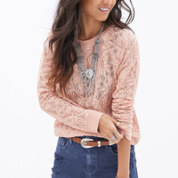 Crochet Lace Pullover