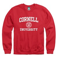 Cornell Crest Sweatshirt (Red)