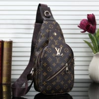 LV Women Leather Backpack Bookbag Daypack Satchel