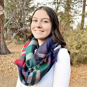 READY TO SHIP * Plaid Infinity Scarves