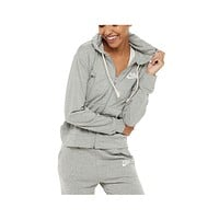 Nike Women's Sportswear Gym Vintage Zip Hoodie Light Grey