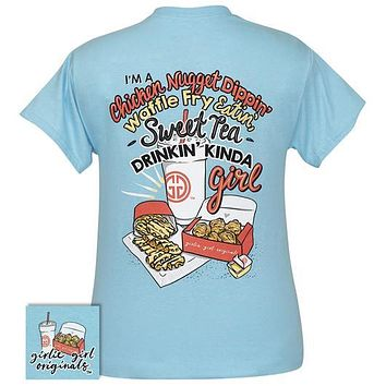 Girlie Girl Originals Preppy Chicken Nugget Waffle Fry Sweet Tea Girl T-Shirt