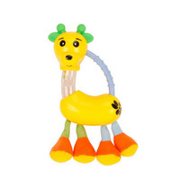Baby Teether Toys Colorful Giraffe(Yellow) Teether Baby Rattle Toy 7.5*4.3''