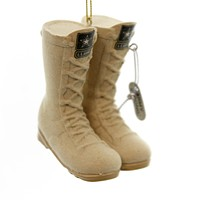 Holiday Ornaments Army Flocked Combat Boots Christmas United States - AM2111