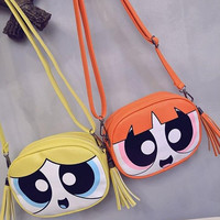 Fashion Women Lady Powerpuff Girls Messenge Shoulder Bag Satchel Handbag Tote