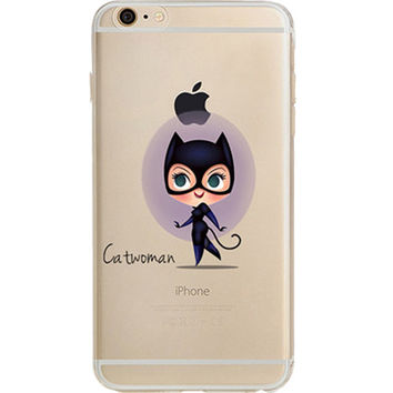 Catwoman Jelly Clear Case for Apple iPhone 7 PLUS