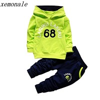 Toddler Tracksuit Autumn Baby Clothing Sets Children Boys Girls Brand Clothes Kids Hooded T-shirt And Pants 2 Pcs Suits
