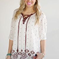 Rustic Days Top - Piace Boutique