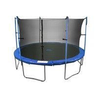 Upper Bounce 14-ft. Round 6-Pole / 3-Arch Trampoline Enclosure Safety Net (Black)