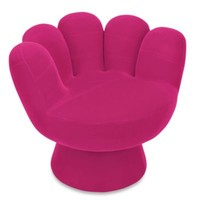 LumiSource Mini Mitt Chair in Hot Pink