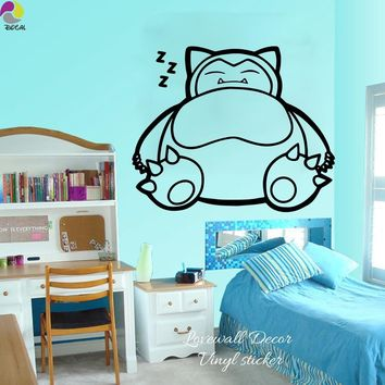 Cartoon  Go Wall Sticker Kids Room Baby Nursery Pikachu Anime Wall Decal Children Room Vinyl Home Decor Easy ArtKawaii Pokemon go  AT_89_9