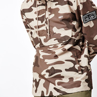 OBEY Crosstown Camouflage Half Zip Anorak Jacket at PacSun.com