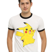 Pokemon Pikachu Ringer T-Shirt