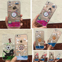 Torch Flames Dynamic Football Basketball Playing Cute Girl HeadPhone Painting Liquid PC Hard Case for iPhone 5S SE 6 6S Plus