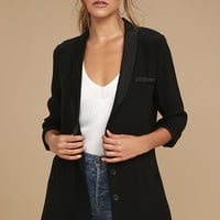 Only the Lucky Black Blazer