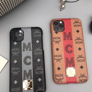 MCM Fashion iPhone Phone Cover Case For iPhone 7 7plus 8 8plus X iPhone XR XS MAX 11 Pro Max 12 mini 12 Pro Max