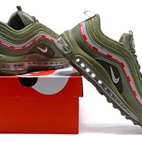 """UNDEFEATED x Nike Air Max 97"" Sport Casual Unisex Fashion Multicolor Letter Stripe Air Cushion Running Shoes Couple Sneakers"