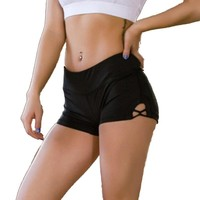 Solid Women Yoga Short Pants Soft Fabric Female Gym Running Clothes Sportswear Fitness Shorts For Slimming