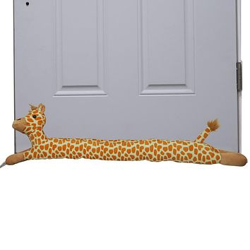 Evelots Door/Window Draft Stopper-Giraffe- No Cold Air/Noise/Fumes-3 Feet Long