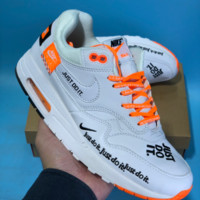 DCCK2 N550 Nike Air Max Just Do It Low Running Shoes White Orange