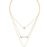 Fell for You Gold and Pearl Layered Necklace