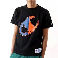 Champion 2020 New Cotton Men's and Women's Printed Letter Half Sleeve T-Shirt