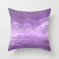 BELOVED Throw Pillow by Pocket Fuel
