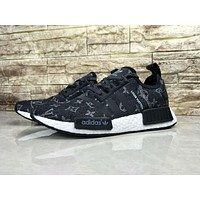 Louis Vuitton LV x Adidas NMD R1 Black BA7263 Sport Running Shoes Classic Casual Shoes Sneakers