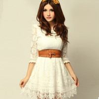 New sweet lady floral lace skirt LYQ0016