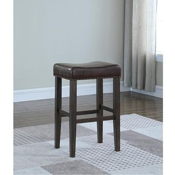 American Woodcrafters Jersey 29 in. Brown Cushioned Bar Stool, Walnut/ Brown