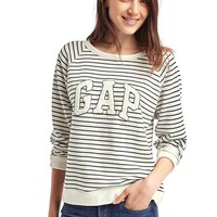 Textured logo pullover sweatshirt | Gap