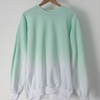 ANDCLOTHING — Mint Ice Dip Dye Sweater