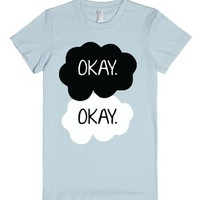 Okay Okay-Female Light Blue T-Shirt