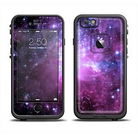 The Purple Space Neon Explosion Apple iPhone 6 LifeProof Fre Case Skin Set