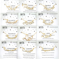 Zodiac Name Necklace Gold (All Zodiac Signs Available)