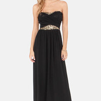Talk of the Gown Black Sequin Maxi Dress