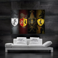 Game of Thrones symbols of houses flags  Poster art huge giant wall print 8 parts HH10740 S33