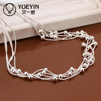 18 inches rope chain new arrive hot sale silver plated long chain women men necklace jewelry for pendant N213