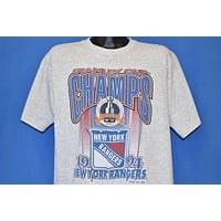 90s New York Rangers Stanley Cup Champs t-shirt Extra Large