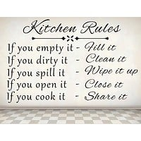 Kitchen Rules - Inspirational Wall Decals