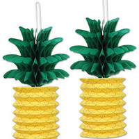 pineapple paper lanterns Case of 6
