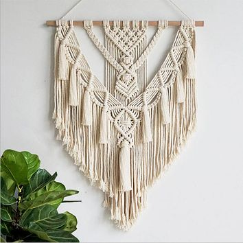 Hand Woven Macrame Wall Hanging Art Handmade Bohemian Decoration Gorgeous Tapestry Hippie Gypsy Home Decor Living Room Bedroom