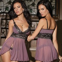 Lingerie Dress Babydoll Women Underwear Nightwear Sleepwear G-string L