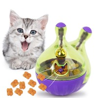 YVYOO  Interactive Cat Toy IQ Treat Ball Smarter Pet Toys Food Ball Food Dispenser For Cats Playing Training Pet supplies D10